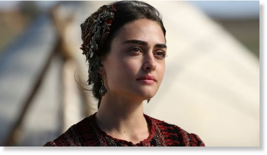 Esra Bilgic as Halime Sultan in Ertugrul.