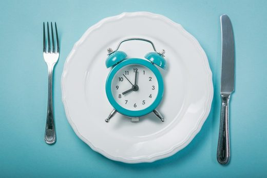intermittent fasting clock plate