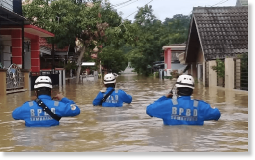 Floods in Samarinda, Indonesia May 2020