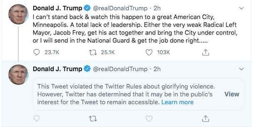 trump censored tweet
