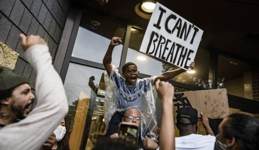 I can't breathe protest george floyd