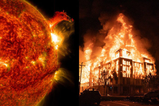 solar flare and riots