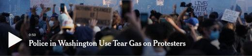 NYT tear gas headline