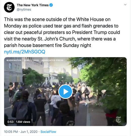 NYT tear gas tweet