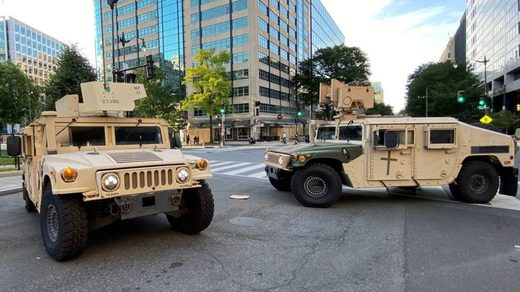 military vehicles on US streets