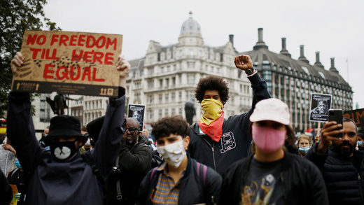 BLM protests London June 2020