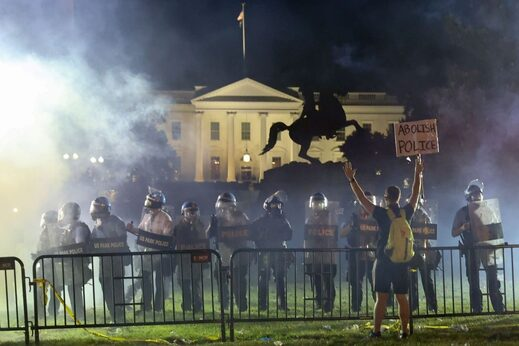 BLM floyd protest white house