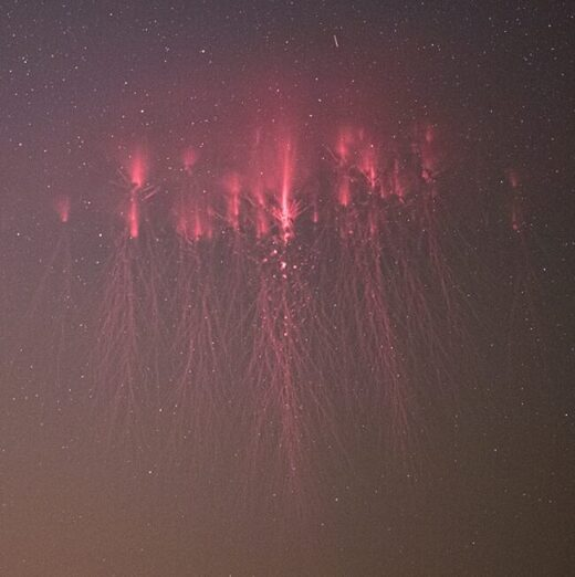 Red Sprites from MCS storm over Slovakia