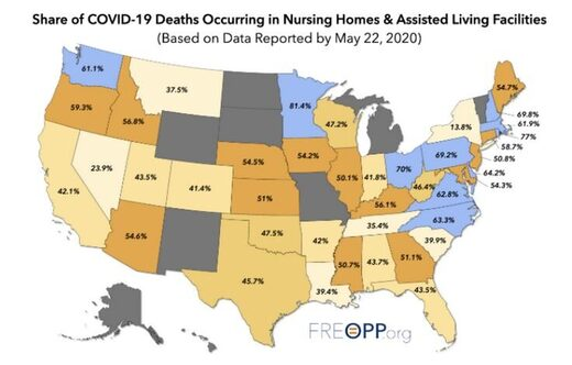 USA deaths care homes map
