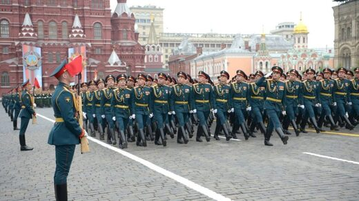 Russian army parade