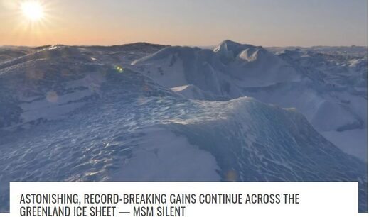 Greenland record ice gains