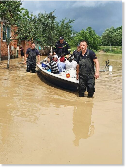 Flood rescues and evacuations in Romania, June 2020.