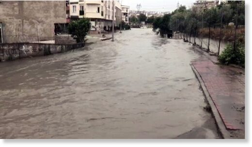 The flooding in Istanbul's Esenyurt, June 23, 2020.