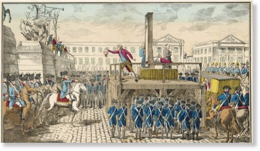 Execution of Louis XVI during the French Revolution
