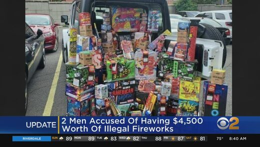 confiscated fireworks New York