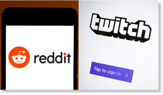 twitch and reddit logo