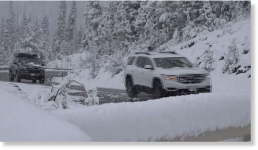 Galena Summit saw more than 6 inches of snow