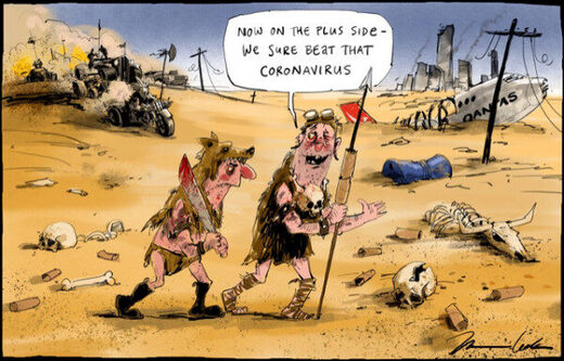 coronavirus Mad Max cartoon