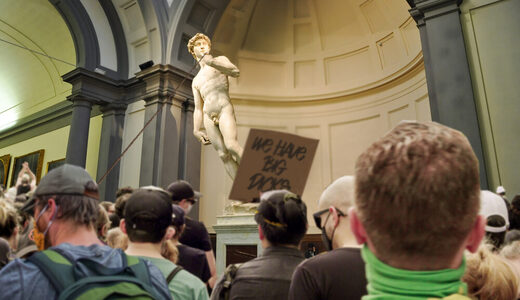 Michelangelo statue desecrated over 'harmful' stereotype about white men's penis size