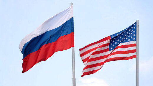 russia us american flag