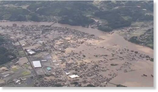 Meteorologist Heather Tesch says the death toll is expected to rise after flooding in Japan.