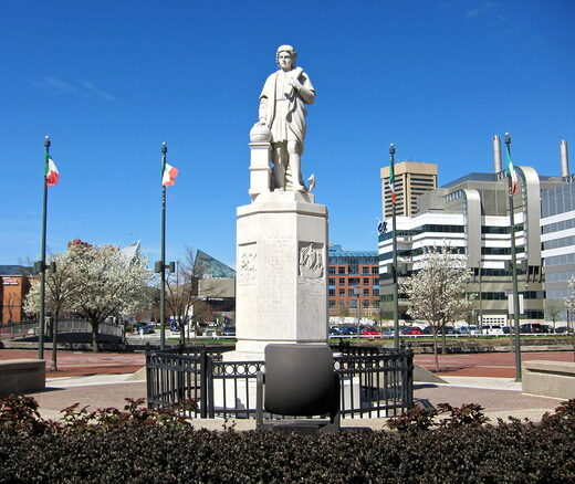 Christopher Columbus statue baltimore maryland