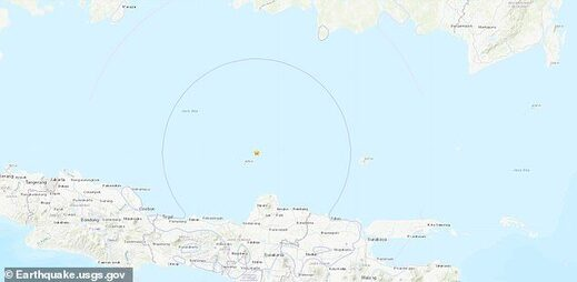 A 6.6 magnitude earthquake has struck the Java Sea off the Indonesian coast