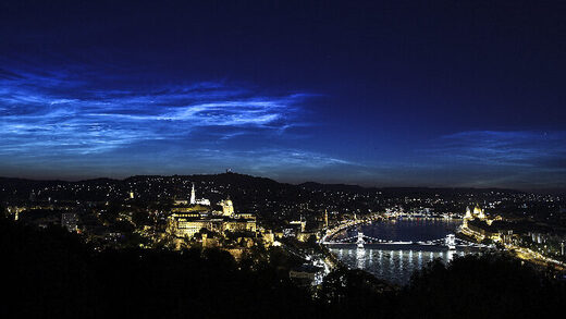 Noctilucent Clouds on July 5, 2020 @ Budapest, Hungary