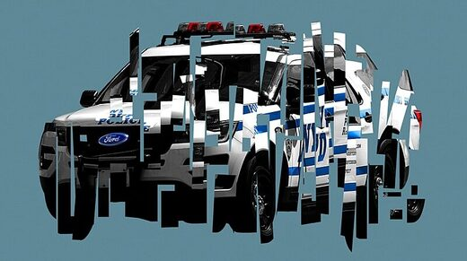 police car graphic fracture