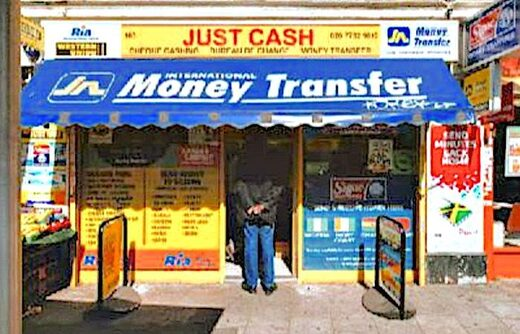 Storefront money transfer