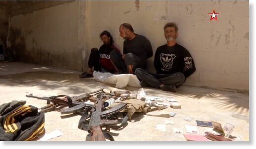 Three gunmen caught by the Syrian Army