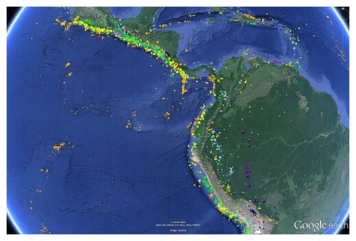 Central and South American earthquakes