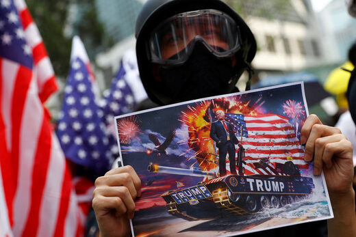 hong kong protests trump picture