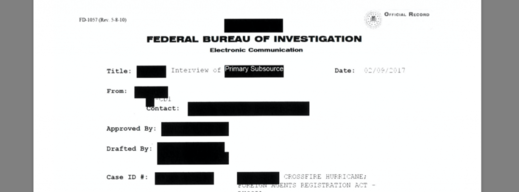 FBI redacted interview Russiagate