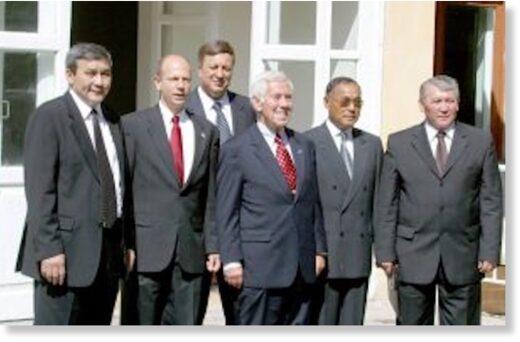 Richard Lugar on a visit to Kazakhstan