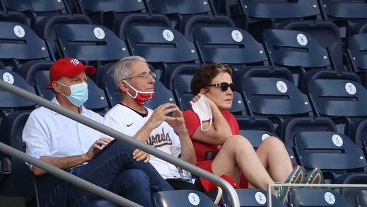 Dr. Anthony Fauci Nationals baseball game no mask