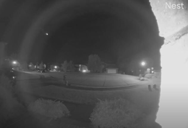 Home surveillance camera captures bright meteor fireball over southwestern Illinois