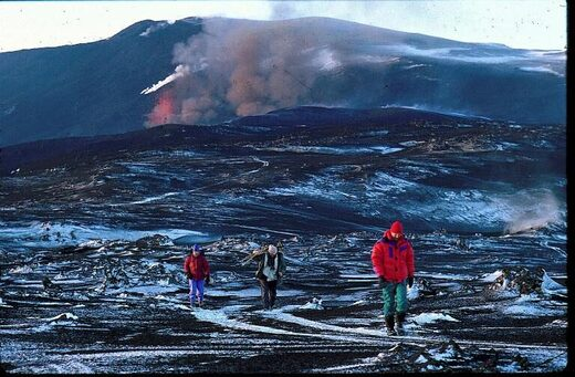 From the 1991 Hekla eruption, when lava covered an area of 23 square kilometers