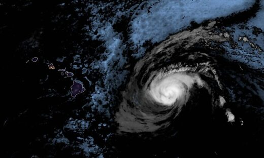 Hurricane Douglas Hawaii satellite