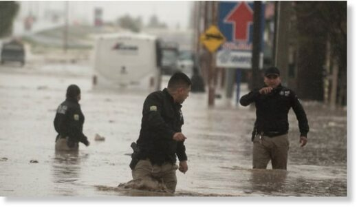 The city of Saltillo was also partly flooded