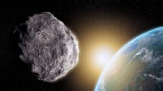Asteroid shooting past Earth