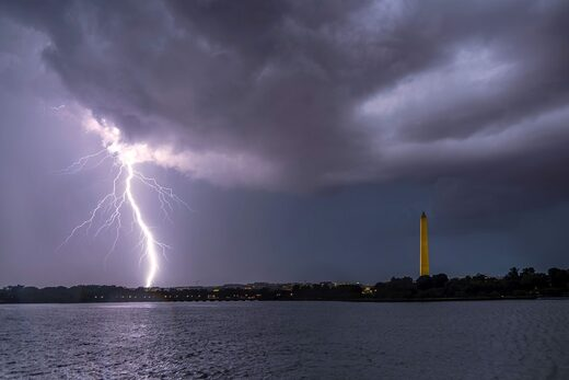 Lightning over D.C. on Thursday night.