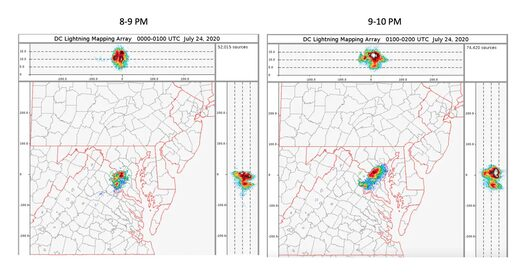 Lightning detected by the D.C. Lightning Mapping Array