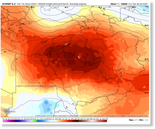 Crushing heatwave setting records in the Middle East