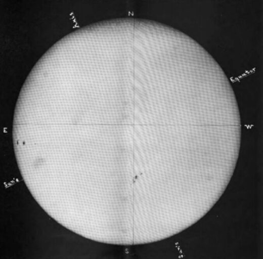 A photo of the sun on Oct. 31, 1903, from the Royal Observatory in Greenwich