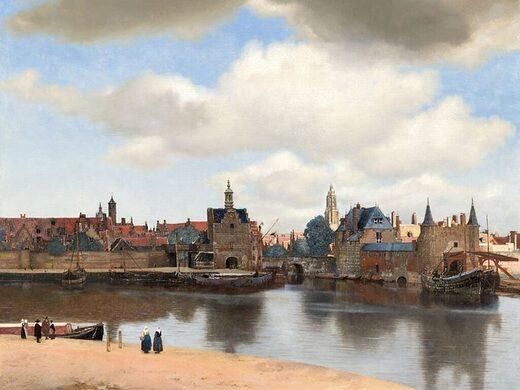 Vermeer view of delft painting