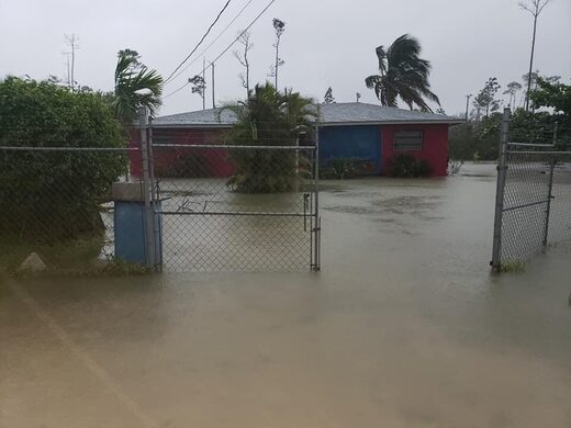 Tropical Storm Isaias floods streets on Grand Bahama