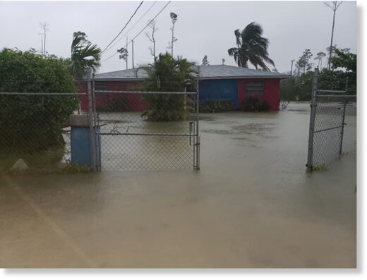 A home in Arden Forest, Grand Bahama flooded during Hurricane Isaias.