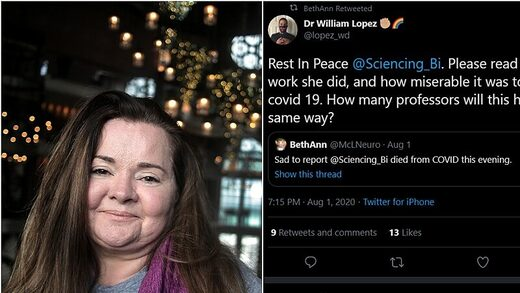 #metoo fake death covid twitter BethAnn McLaughlin