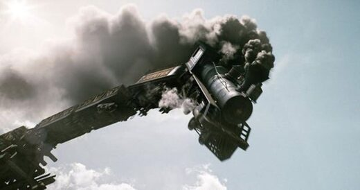 Falling world Economy train